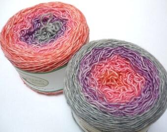 Gradient Sock Yarn - Superwash Merino Single Ply Fingering Weight in Alpine Glow Colorway