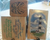 Lighthouse Assorted Mounted Rubber Stamps