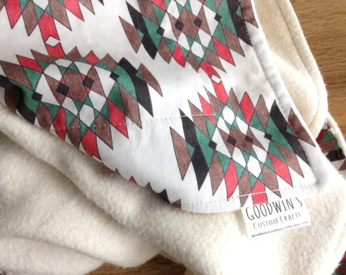 Organic Baby Blanket - Southwestern Earthtones, Earthy Pineapple,  Southwest, Desert, Southwestern Decor