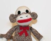 Sock Monkey for Baby, Sock Monkey Baby Toy, Sock Monkey Child Friendly, Sock Monkey Baby's First, Little Sock Monkey