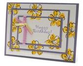 Floral Birthday Card - Yellow Daisy Flower Birthday Cards - Happy Birthday Greeting Card - Springtime Birthday Cards - Birthday Stationery