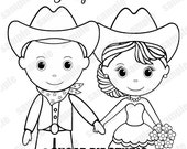 Western Rustic Wedding coloring activity book Printable Personalized Favor Kids 8.5 x 11  PDF or JPEG TEMPLATE