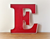 Large Salvaged Wall Letter E Reclaimed Big Sign Letter