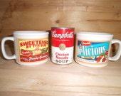 2 Large Campbell Soup Mugs