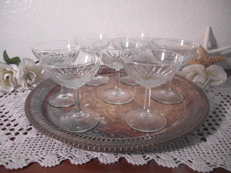 Vintage Champagne Coupe Glass Set Wedding Reception Bridal