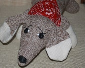 Handcrafted Sock Monkey Dachshund Puppy Dog several colors