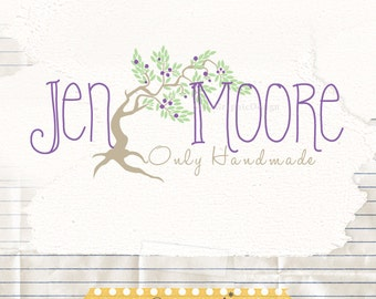 Pre designed logo - whimsical logo - photography logo design - ooak logo - cute logo - boutique branding