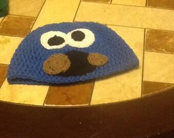 Crochet Cookie Monster hat