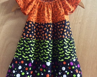 Halloween Peasant Dress, size 2t