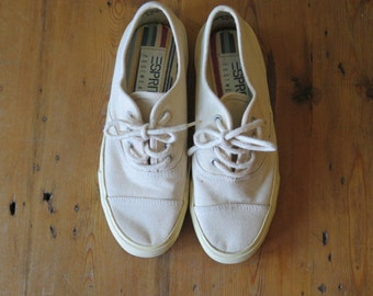 Vintage ESPIRIT Canvas Shoes in Vanilla, Size 6 1/2