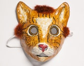 papie mache cat mask