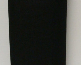 Black 20% Merino Wool Felt Blend Fabric By the Yard from Woolhearts