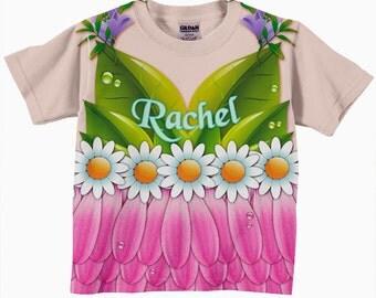 Girls Fairy Shirt, Personalized Fairy T-shirt, Flower Fairy Birthday Shirt, Fairy Costume, Fairy Princess Shirt, Girl's Clothing