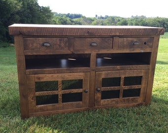 Aged Oak Console - Ready To Ship