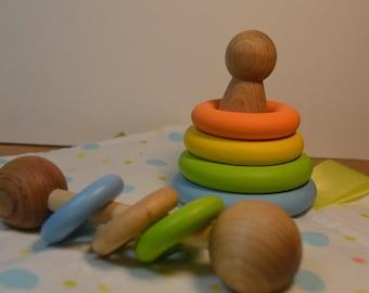 Montessori Baby Gift Set Gender Neutral 4 Pc Set