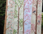 Hand Painted Grow Charts, Personalized Growth Chart Trees, Made to Order, Hand painted Growth Trees, Fabric Banners