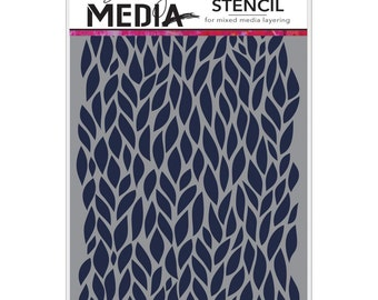 "Dina Wakley Stencil - LEAFY - 6"" x 9"""