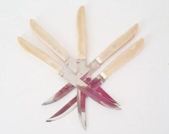 Vintage Knives Cutlery Dinnerware Steak Knives NOS Vintage Silverware Midcentury Knives Quikut Steak Kniife  Gift under 15