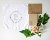Sage Wreath Ladies Handkerchief for Mother of the Bride, Mother of the Groom, Sister and Friend