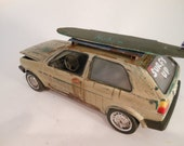 Classicwrecks Scale Model VW Rusted Surf Car
