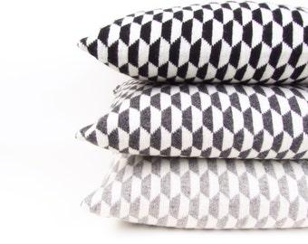 SALE! 50% OFF! Geometric Pillow Geometric Cushion Pillow Black and Cream Pillow Cream Grey Pillow Grey Cushion Monochrome Cushion Cover