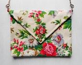 Fashionista Floral Envelope Bag / Fabric Handbag / Paperback Clutch