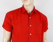 Vintage 1950's San Remo Shirt - Jac RED ReTrO HiPsTeR MOD Beatnik High Waisted L