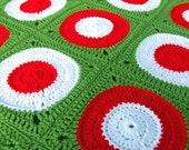 Crochet Pattern - Retro Circle Throw - PDF