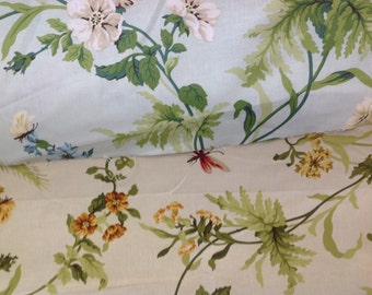 Sanderson designer curtain fabric primrose hill in duckegg and gold by the metre