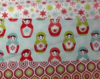 Riley blake merry matroyshka collection cotton craft fabric fat quarter