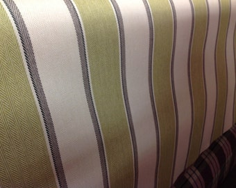 Fryetts designer upholstery FR fabric guernsey by the metre in lime, rosso and dove