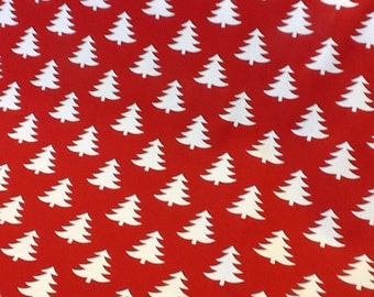 Fryetts christmas trees 100% cotton fabric by the half metre