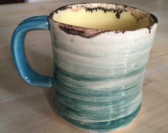 Teal and Yellow Mug