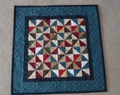 Country Pinwheels Quilt, Pinwheels Decorator Quilt 0722-01