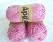 Pink Bamboo yarn,Each skein: 100 gr, knitting yarn
