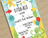 Custom Printable Invitation - Print Your Own Under The Sea - Mermaid - Party Invitations - Birthday Party - Costume Party - Pool Party