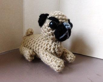 PUG crochet adorable little toy dog