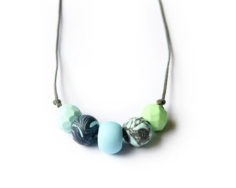Mint & Granite 5 Bead