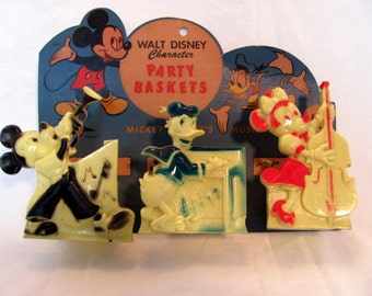 Disney Character Party Baskets / Micky, Minnie, and Donald Duck Unused Party Baskets