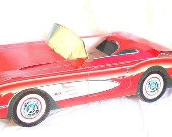 5 CLASSIC Red Corvette Car paper Food Box-Vintage Car Box-Parties-Favors-