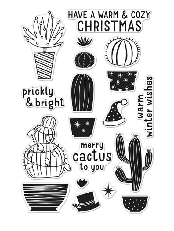 Hero Arts Merry Cactus to You CL909 Clear Christmas Stamp matches die DI146