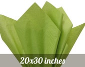 """SALE Tea Green Tissue Paper - 24 sheets at 20""""x30"""""""