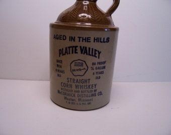 Vintage  Platte Valley  Whiskey Jug