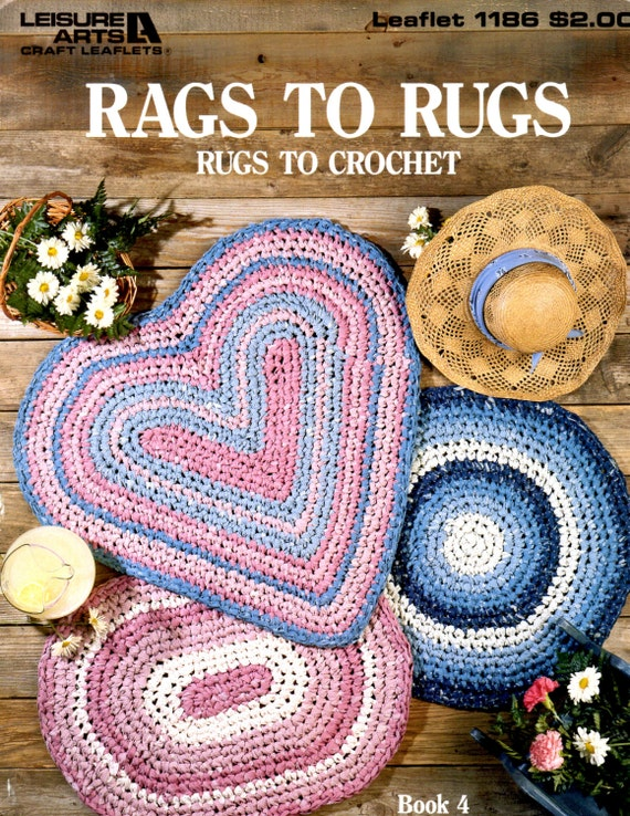 Crocheting Into Fabric : Fabric Rug Crochet Pattern Book Vintage by AllMyStyles on Etsy