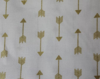 Metallic Gold Arrow Crib Sheet