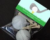 Personalized Golf Treat Bag Topper - DIY Printable Digital File