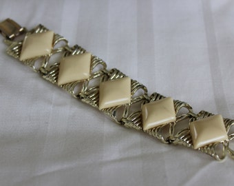 Thermoset Ivory Wide Bracelet