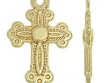 Gold Cross Charm Pendant