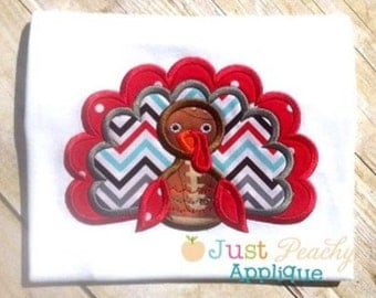 Boy Turkey Machine Embroidery Applique Design Buy 2 for 4! Use Coupon Code 50OFF