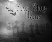 Basic Custom Etsy Shop Banner Set (Pre-made) - Halloween 1